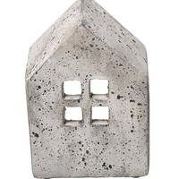 Stone House Candle Holder -- Med Wide
