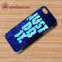 nike just do it mint blue sparkly custom case for all phone case