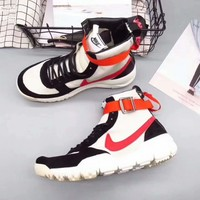 NIKE Women Men Running Sport Casual Shoes Sneakers Heudauo high tops WHITE Red Hook G-A36H-MY