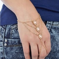 Pave Cabochon Hand Chain
