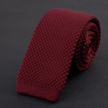 High Quality Men's Fashion Casual Tie Knitted Tie Slim Woven Tie