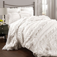 Lush Decor C07853P13 Belle White King Size Comforter Sets - (In No Image Available)
