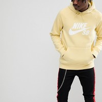 Nike SB Icon Pullover Hoodie In Yellow 846886-721 at asos.com