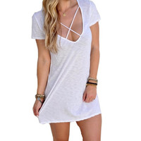 Fashion Women Summer Bodycon Sexy Evening Party Solid Mini Dress Casual