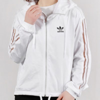 """""""Adidas"""" Fashion Casual Simple Letter Print Classic Ladies Trench Coat"""