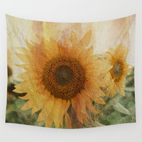 sunflower Wall Tapestry by VanessaGF