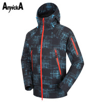 AmynickA Waterproof Thermal Softshell Hiking Jackets Men Windstopper Ski Jackets For Ski Snowboard Climbing Outdoor Sports A98