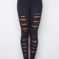 High Hopes Cut Out Leggings - Charcoal