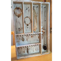 Rustic Wooden Jewelry Storage