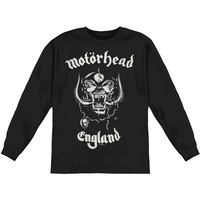 Motorhead Men's  England  Long Sleeve Black