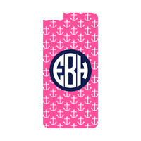 Hot Pink Anchor Personalized Monogrammed iPhone or Samsung Galaxy Case