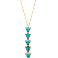 Ascension Pendant Necklace in Gold & Turquoise