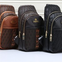 """Coach"" Fashion Casual Unisex Logo Print Multicolor Backpack Couple Travel Large Capacity Double Shoulder Bag"
