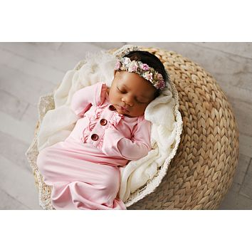 Swoon By Serendipity Blush Knot Gown W/Headband