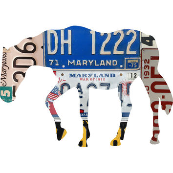 Maryland License Plate Thoroughbred