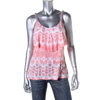 INC Womens Burnout Jeweled Tank Top