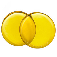 "Honey Yellow Glass Plugs ( 3mm-25mm) (8g-1"")"