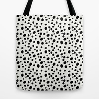 Dalmatian Tote Bag - Book Bags for Girls - Girls Tote Bag - Market Bag - Black and White - Book Bag - Market Tote - Gift Ideas for Her