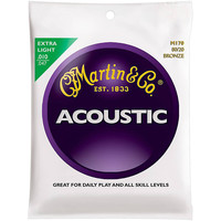 Martin 80/20 Bronze Acoustic Guitar Strings Extra Light M170