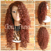 READY To SHIP // Long Curly Lace Front Wig, Red Curly Wig, Big Curly Hairstyle // DREAM (Free Shipping)