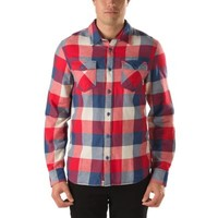 Vans Box Flannel Shirt (Ensign Blue/Reinvent Red)