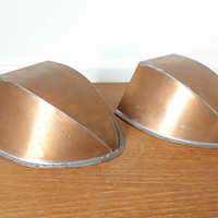 Watertight solid copper wall pockets with keyhole hangers, made in Turkey