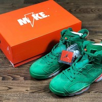 "Air Jordan 6 NRG ""Gatorade""Green Suede"