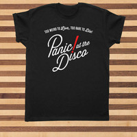 panic at the disco to live red tshirt