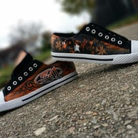 311 Hand Painted Canvas Lace Up Shoes