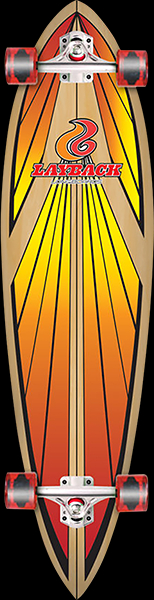 Image of Layback Soulride Complete 9.75x40 Red Longboard