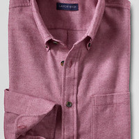 Men's Traditional Fit Long Sleeve Solid Flannel Shirt from Lands' End