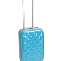 "F221-TURQUOISE Princess 20"" Polycarbonate Carry On Luggage Set"