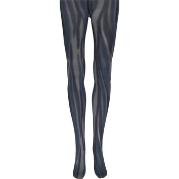 Vertical Swope Tights in Black and Gray