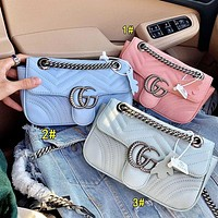 Gucci 2020 new Marmont macaron series bags Three Color select Pink Blue