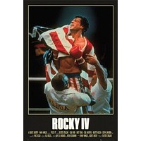 (24x36) Rocky IV Movie (Sylvester Stallone with Flag) Poster Print