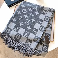 LV new women's jacquard letters long shawl scarf