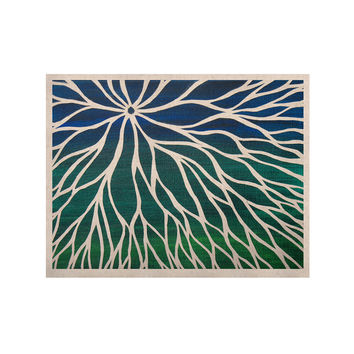 "NL Designs ""Ocean Flower"" Teal Green KESS Naturals Canvas (Frame not Included)"