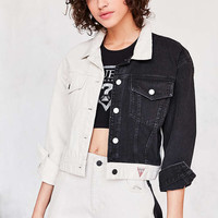 GUESS 1981 Colorblock Crop Denim Jacket - Urban Outfitters