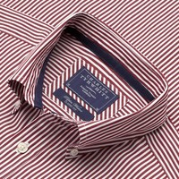 Red Stripe washed favorite classic fit shirt |  Men's sport and casual shirts from Charles Tyrwhitt | CTShirts.com