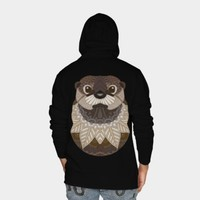 Ornate Otter Zip Hoodie By Myartlovepassion Design By Humans