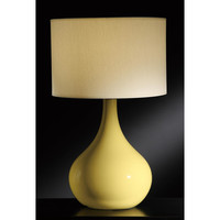 Crestview Collection Greenwich Lighting Cabot Table Lamp, Saffron Yellow