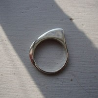 $86.00 shark fin ring by carrierpigeon on Etsy