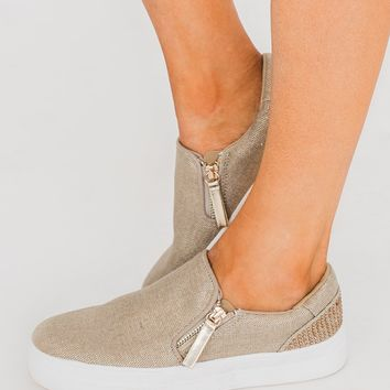 Not Rated Timbre Sneakers- Gold
