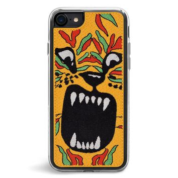 Tiger Embroidered iPhone 7/8 Case