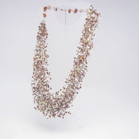 FREE SHIPPING chocolate  brown,  golden ,white Glass Bead , Beads colored necklace, Multi colored, Everyday necklace, Women