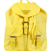 Nylon Sports Girl Mini Backpack - Yellow