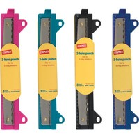 Staples Binder 20545 3-Hole Punch, Assorted Colors | Staples