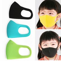 3pcs Kids Outdoor Cycling Anti Dust Haze Sponge Mouth Face Mask Respirator Masks