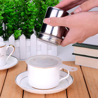 New Stainless Steel Cocoa Flour Icing Chocolate Shaker Sugar Powder Coffee Cappuccino Sifter Kitchen Cooking Tools