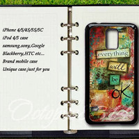 everything will be ok,samsung galaxy S3/S4 /S5 /S3mini /S4mini /note 3/note 2/ S4active case,Blackberry Z10,Q10 case,sony xperia Z / Z1 case